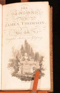 1802 The Seasons James Thomson Illustrated with Biography by Murdoch