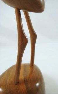Vintage Modern Abstract Style Wood Crane Sculpture Don Ward Mountain