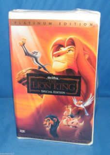 The Lion King Disneys VHS 2003 Platinum Edition Features An All New