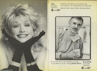 1987 TV GUIDE AD DOLLY DOLLY PARTON BUCK JAMES DENNIS WEAVER NEW SHOWS