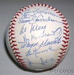 25 Team Signed 1969 Miracle Mets World Series Team Baseball MLB JSA
