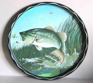 Wildlife FISH 11 Metal Tray Plate Artist Signed by James L Artig