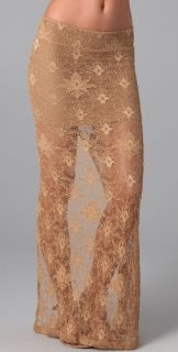 Nightcap Clothing Lace Maxi Skirt with Slit