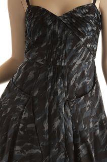 BCBG Max Azria Blue Gray Cocktail Dress New Size 12