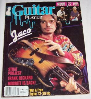 1984 Guitar Player Magazine Jaco Pastorius Weather Report