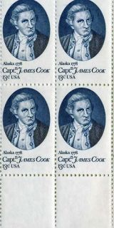 Captain James Cook 4 13 Cent US Postage Stamps 1732