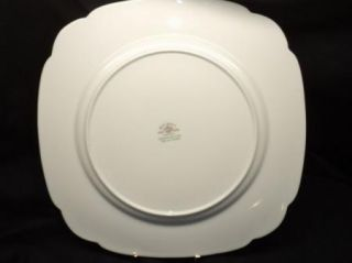 Royal Albert Greenwood Green Trim One Square Dinner Plate Dish