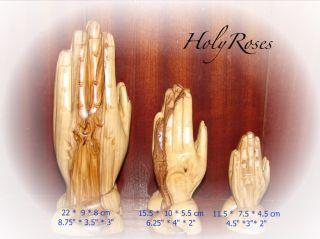 Hand Carved Olive Wood Olivewood Praying Hands Statue Figure Bethlehem
