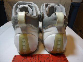 Nike Zoom Air Lebron James IV 4 10 3M White Silver Grey RARE Vtg OG