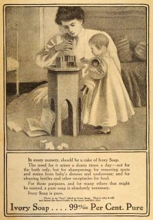 1911 Vintage Ad Ivory Soap Child Girl Toddler Mother   ORIGINAL