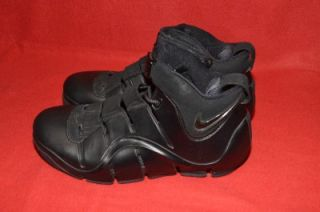 Nike Zoom Lebron James 4 IV Mens Basketball Shoes Black LJ 23 Size 9 5