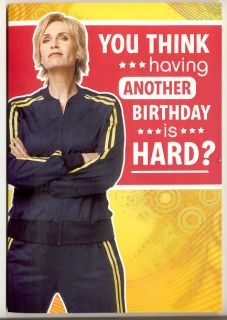 Glee Coach Sue Sylvester Jane Lynch Birthday Card Sound You think this