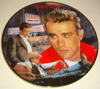 James Dean 3 N 1 Plate Movies Giant Rebel w O Cause East of Eden Orig