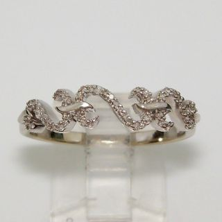 Jane Seymour 14k White Gold Open Heart 1 8ct Diamond Ring Size 10