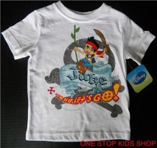 Jake and The Neverland Pirates Toddler Boys 18 24 MO 2T 3T Tee Shirt