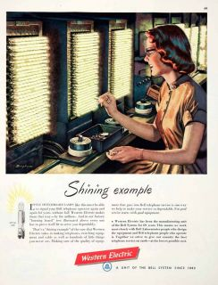 Western Electric Bell Phone System Switchboard Woman James R Bingham