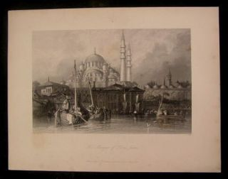 Mosque Yeni Jami Turkey C 1838 Constantinople Allom