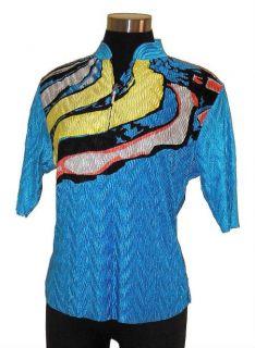 Jamie Sadock Cooltron Rip Tide Short Sleeve Golf Top Shirt x Small