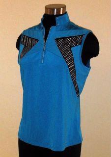 Jamie Sadock Cooltron Rip Tide Sleeveless Golf Top Shirt Medium
