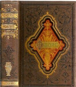 RARE 1882 Very Fine Binding Thomas Moore Ireland Irish Poet Great Gift