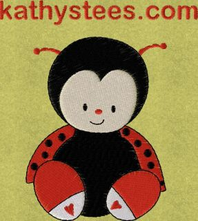 Lady Bugs Machine Embroidery Designs Set of 10 on CD