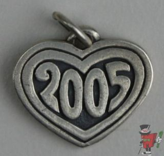 James Avery Sterling 2005 in A Heart Charm 11 16