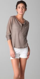Vince Long Sleeve Henley Tee