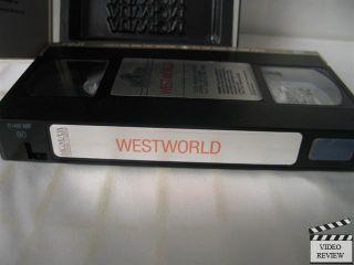 Westworld VHS Yul Brynner Richard Benjamin James Brolin