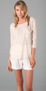 HHH by Haute Hippie Oversized Pocket Henley