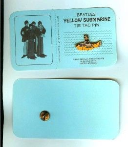 Vintage 1968 Beatles Yellow Submarine Tie Tack Pin Original RARE w