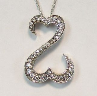 Gold Jane Seymour 50cttw Diamond Open Heart Collection Necklace
