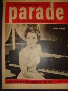 PARADE MAGAZINE HELEN HAYES JANE RUSSELL SAM RENICK 16 NOVEMBER 1941