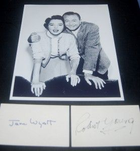 Robert Young Jane Wyatt Autographs and Great Father Knows Best Print