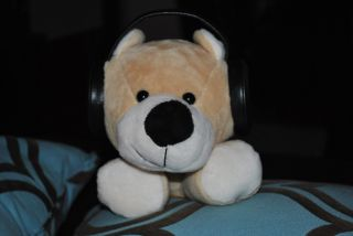 Iflops Brown Teddy Bear Plush Speakers iPod MP3 12