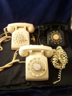 VINTAGE ROTARY DIAL TELEPHONES ITT AT T AND STROMBERG CARLSON UNTESTED
