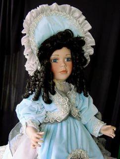 all porcelain Victoria doll   JANIS BERARD   Ltd. Ed.  Velvet gown