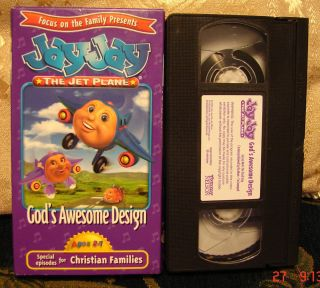 Jay Jay The Jet Plane Gods Awesome Design VHS Video RARE Focus on The