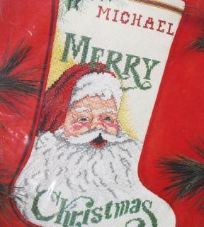 Vintage Janlynn Cross Stitch Stocking Kit Christmas Santa Claus 78 6