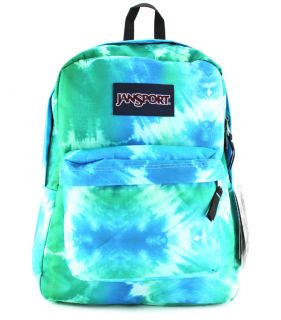 Jansport Superbreak Super Break Blue Hippie Backpack School Bag