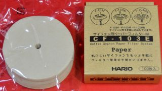 Japan CF 103E Hario 100 Paper Filters Coffee Syphon F 103P F 103M F