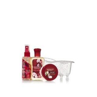 New Bath and Body Work Japanese Cherry Blossom Bathtub Gift Set Body