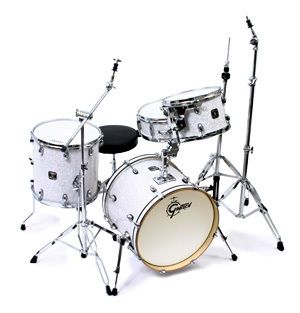 Gretsch Catalina Club Jazz 4 Piece Drum Set White Marine Pearl w OSP