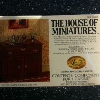 House Of Miniatures Doll Furniture Kit Unopened Box Hutch Cabinet