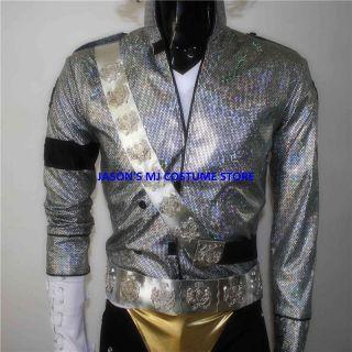 New Michael Jackson Jam Sash Belt Set MJ Costume