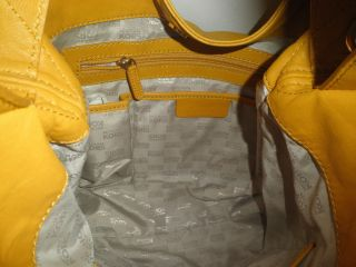 Michael Kors Jamesport Shoulder Tote Bag Marigold Yellow Smooth