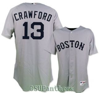 Carl Crawford Authentic on Field Boston Red Sox Grey Away Jersey Sz 40