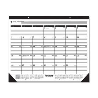 Monthly Calendar Desk Pad 12 Months Jan Dec 2013 22x17 White 2013