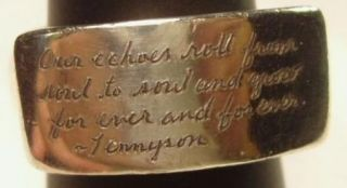 Sterling Silver Soul Mate Verse Ladies Ring by Jeanine Payer Designer