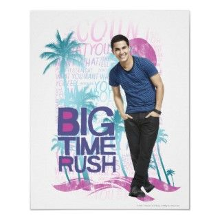 Big Time Rush Red Pattern Print
