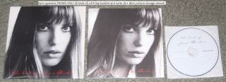 Jane Birkin Japan Promo Only CD with 7 inch Size Card Sleeve and Delux